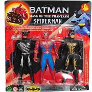 Super Hero Set of Spider Man Bat Man mask of The Phantasm