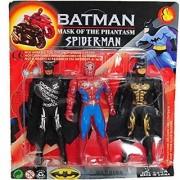 Super Hero Set of Spider Man Bat Man mask of The Phantasm