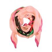 Rosew hebvábný šál s potiskem růžová