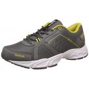 Reebok Men's Edge Quick Lp Rivet Gry, Yell, Wht and Blk Running Shoes - 9 UK/India (43 EU)(10 US)