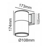 ACA Lighting Venkovní bodové svítidlo HI7002B max. 60W/GU10/230V/IP54, černé
