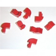 Lego Building Accessories 1 x 1 x 1 Red Brick with Arch Bulk - 50 Pieces per Package