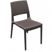 Resol - Conjunto de 4 cadeiras castanhas MODENA - RESOL