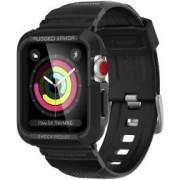 Apple Spigen Rugged Armor Pro Apple Watch 42MM Hoesje en Bandje Zwart