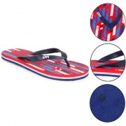 Daily Walk Red And Navy Men's Flip-Flops And Regular Walking House Slippers