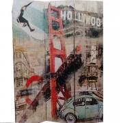 Paravan decorativ cu ilustratie Hollywood