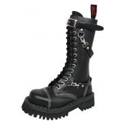 Lederstiefel/Boots KMM 14-Loch - Black - 142/PZM