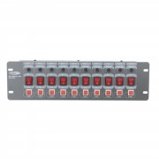 Showtec DJ Switch 10-Flash Base de interruptores 10-canales