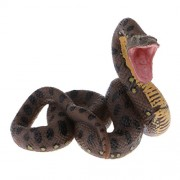Phenovo Simulation Wild Jungle Animals Toy Python Figure Boa Constrictor Display Model Collection Toy Kids Children Educational Toys Collections Brown