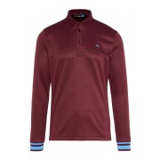 J.LINDEBERG M Olle Ls Slim Tx Peached Polo Shirt Man Röd