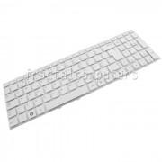 Tastatura Laptop Samsung NP300E5V alba layout UK