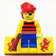 "Minifigure Packs: Lego Pirates Bundle ""(1) Pirate W/Red Bandana"" ""(1) Figure Display Base"" ""(1) Figure Accessory"""