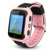 Ceas GPS Copii iUni Kid530, Touchscreen, Telefon incorporat, BT, Camera, Buton SOS, Roz