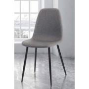 items-france AUSTIN - Lot de 4 chaises tissu 38x43x87/49cm