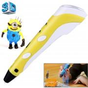 Mano Celebró La Impresion 3D Pen, Enchufe De La UE (Amarillo)