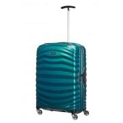 Samsonite Lite-Shock 69cm 4 Wheel Spinner Medium Suitcase - Petrol Blue