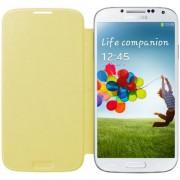 Husa tip Flip Samsung EF-FI950BYEGWW pentru Galaxy S4 i9505/i9500 (Galbena)