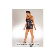 Kozna haljina sa kapom 27036