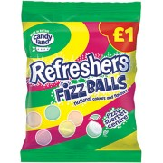 Refreshers Fizz Balls Candy Land Fizzy Sherbet Centre Sweets