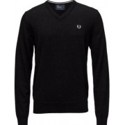 FRED PERRY Classic V Neck Sweater Black (M)