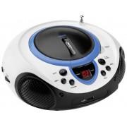 FM CD-radio Lenco SCD-38 USB AUX, CD, FM, USB Blauw
