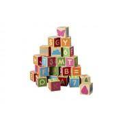 Alfabetsklossar Trä, 36 delar, +1år