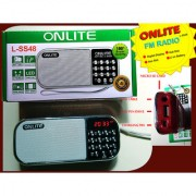 OnliteLss48FM Radio with USB TF Card and AuX Slot
