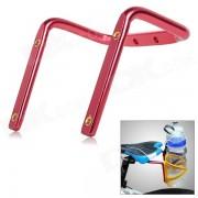 Sillin de bicicleta montada en la silla de montar doble titular de la botella de agua - rojo