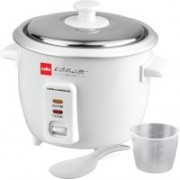 Cello Cook-N-Serve 600 Electric Rice Cooker(0.6 L, White)