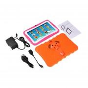 7 Pulgadas Quad Core Niños Aprendiendo Tablet PC 512MB RAM +8GB ROM Para Android 4.4 Naranja