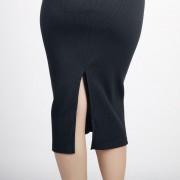 ER Spring Autumn Stretch Slim Falda Mujeres Lápiz Sexy Oficina Paquete Hip Faldas - Azul Oscuro