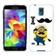 Husa Samsung Galaxy S5 Mini G800F Silicon Gel Tpu Model Minion Mustache