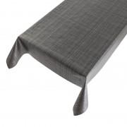 Merkloos Antraciet grijs tuin tafellaken voor buiten tweed stof print 140 x 245 cm PVC/kunststof