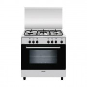 GLEM GAS A855EI Cucina 80cm 5 Fuochi, 1 Tripla Forno Elettettrico, A, Inox, Alpha