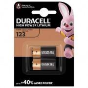 Duracell 2 Piles CR123 Duracell Lithium 3V