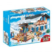 Playmobil Skihütte mit Skifahrern 9280