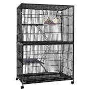i.Pet 4 Level Rabbit Cage Bird Ferret Parrot Aviary Cat Hamster Castor 142cm