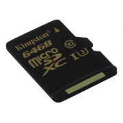 Kingston minneskort, microSDHC Class U3, 64GB
