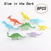 Babytintin™ Dinosaur Action Figure Toys Set Dinosaur Party Supplies Glow In The Dark (Dinosaur Figures) by Light up in the Dark Dinosaur Decorations For Kids,