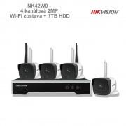 HIKVISION NK42W0 - 4 kanálová 2MP Wi-Fi zostava + 1TB HDD