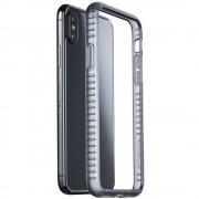 Husa Capac Spate Bumper Negru APPLE iPhone X CELLULARLINE