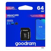 Goodram Microcard 64 GB micro SD XC UHS-I class 10 карта памет. SD преходник (M1AA-0640R12)