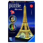 Ravensburger 3D Puzzles Eiffel Tower Night Edition, Multi Color (216 Pieces)