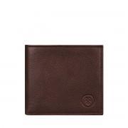 Maxwell-Scott Leder Geldbörse mit Münzfach in Dunkelbraun- Weiches Leder - Brieftasche, Portemonnaie, Geldbeutel, Kreditkartenetui