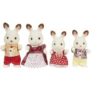 Maven Gifts: Calico Critters of Cloverleaf Corners Bundle - Hopscotch Rabbit Family Set with School Bus Set - Build Skills with Imaginative Play