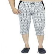 Harvi Mens Cotton Three Fourth Capri Shorts with Pockets 0097