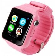 """Smartwatch iUni V8K, 1.54"""", GPS, Bratara silicon (Roz)"""