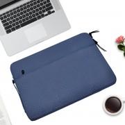 Let op type!! Diamond patroon draagbare waterdichte Sleeve Case dubbele rits aktetas Laptop draagtas voor 15-15 4 inch laptops (donkerblauw)