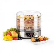 Fruitower D Dörrautomat 35-70°C Timer 5 Ablagen 200-240W Edelstahl 5 Etagen / Timer
