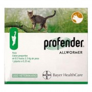 Profender Small Cats & Kittens (0.35 Ml) 2.2-5.5 Lbs 6 Dose + 2 Doses Free